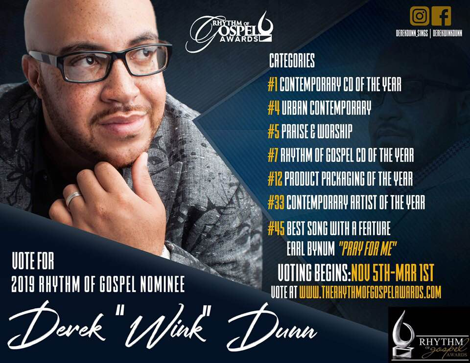 Derek Dunn 7 Rhythm of Gospel Award